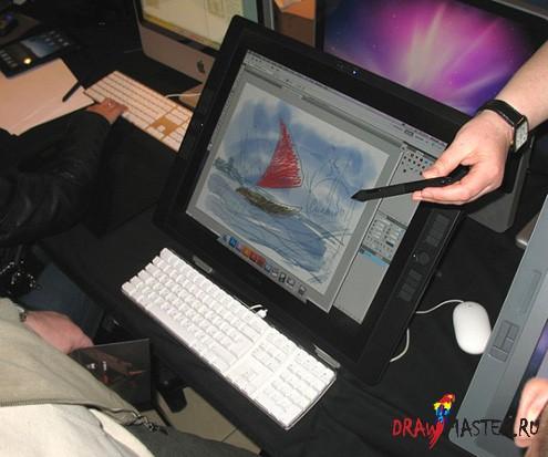 Экспресс-обзор планшета Wacom Cintiq 21UX Intuos 4