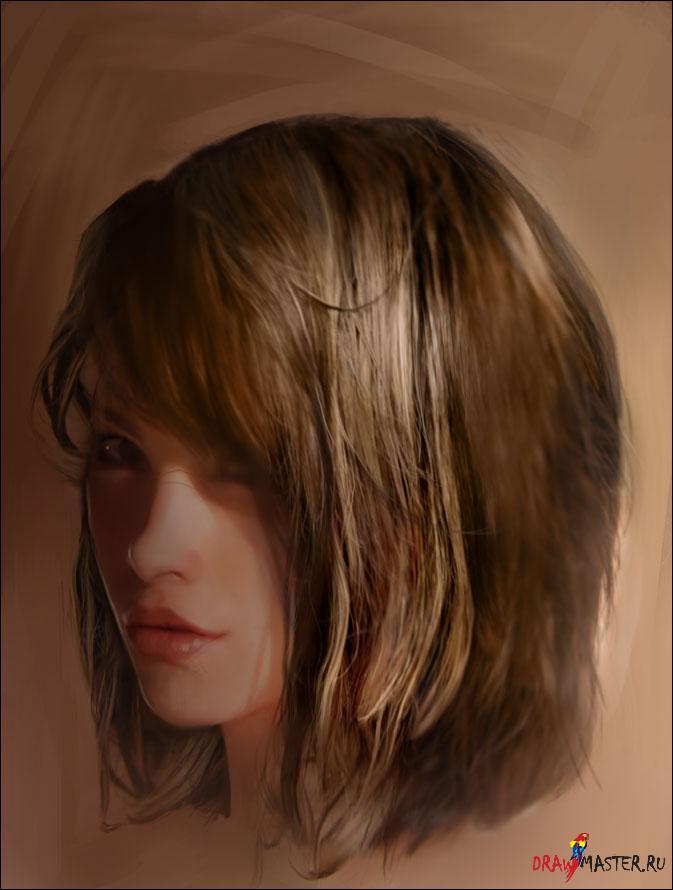 Очевидно, что рисовать волосы