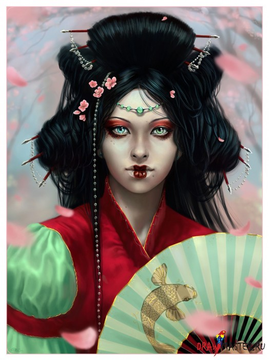 Как нарисовать реалистичный портрет в жанре иллюстрации без референсов или рисуем Нахагумори